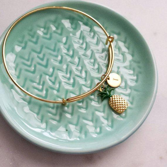 Bracelet personnalisé ananas, fun bijoux modernes