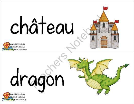 Mots étiquettes  -  chevaliers & princesses from Mahe129 on TeachersNotebook.com (10 pages)  - Chevaliers et princesses