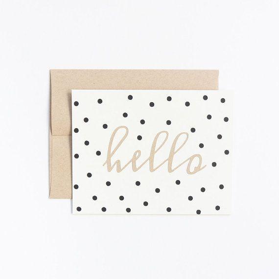 Papercut Confetti Hello Card - White