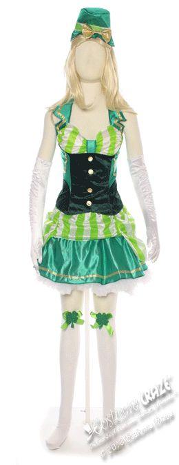 Womens Shamrock Sweetheart Irish Costume | Costume Craze