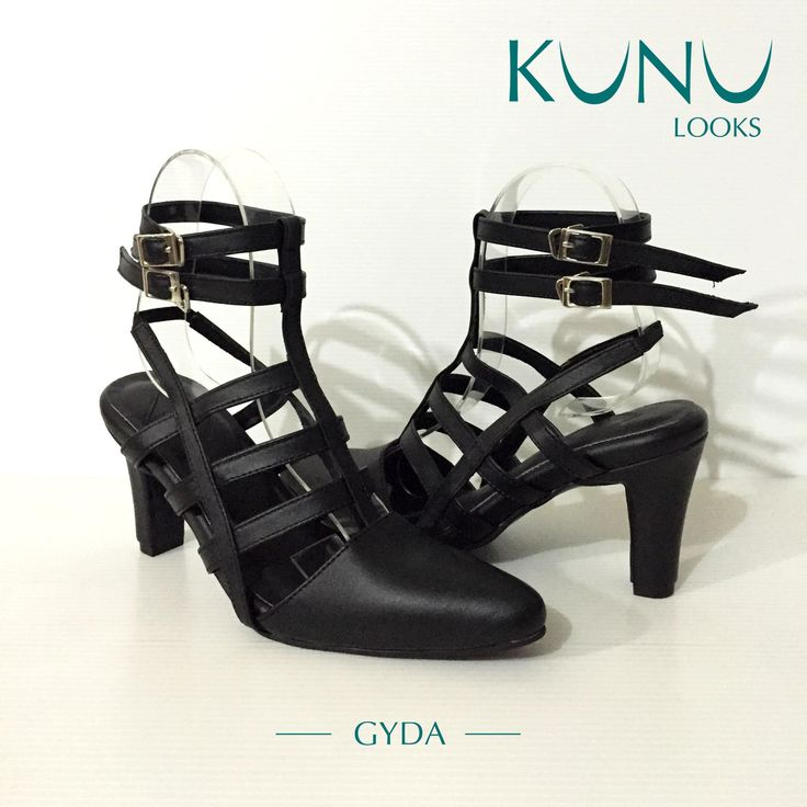 Gladiator Heels, Leather Shoes by Kunu Looks