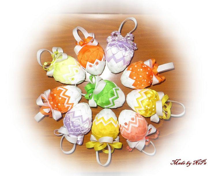 Falešný patchwork, patchwork, Patchwork without needle, Quilted Ornaments, artyčok, vajíčka velikonoční, Easter eggs