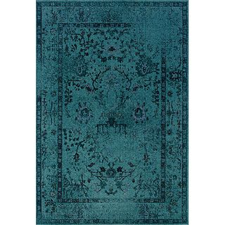 @Overstock.com - Teal/ Grey Area Rug (7'10 x 10'10) - One of today's hottest trends, the over-dyed look, is replicated here in washed shades of teal and grey. Encompassing the best of both worlds this rug offers high style, affordability and ease of care.  http://www.overstock.com/Home-Garden/Teal-Grey-Area-Rug-710-x-1010/6650179/product.html?CID=214117 $335.69
