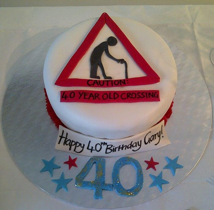 40th birthday cake old man by stephanie sell 40th for 40th birthday cake decoration