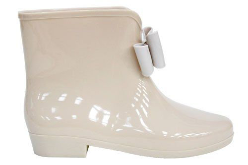 Womens Ladies Nude Bow Ankle Festival Wellies Wellington Boots Size 3 4 5 6 7 8: Amazon.co.uk: Shoes & Accessories £15