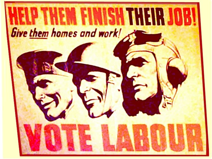 """Saved from http://www.historyofparliamentonline.org/from-the-grassroots/schools/pupil-information-b-1945-campaign The Labour manifesto,""""The Labour Party is a Socialist Party, and proud of it."""" This sentence is buried in the party's 1945 election manifesto . Let us Face the Future Together, promised to implement the Beveridge Report. This report, published in December 1942, recommended a comprehensive Welfare State. This was to include comprehensive Social Security and a National Health…"""
