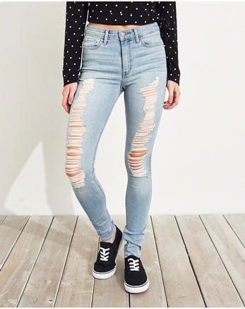 fcb18abe73ff0 hol Classic Stretch High-Rise Super Skinny Jeans