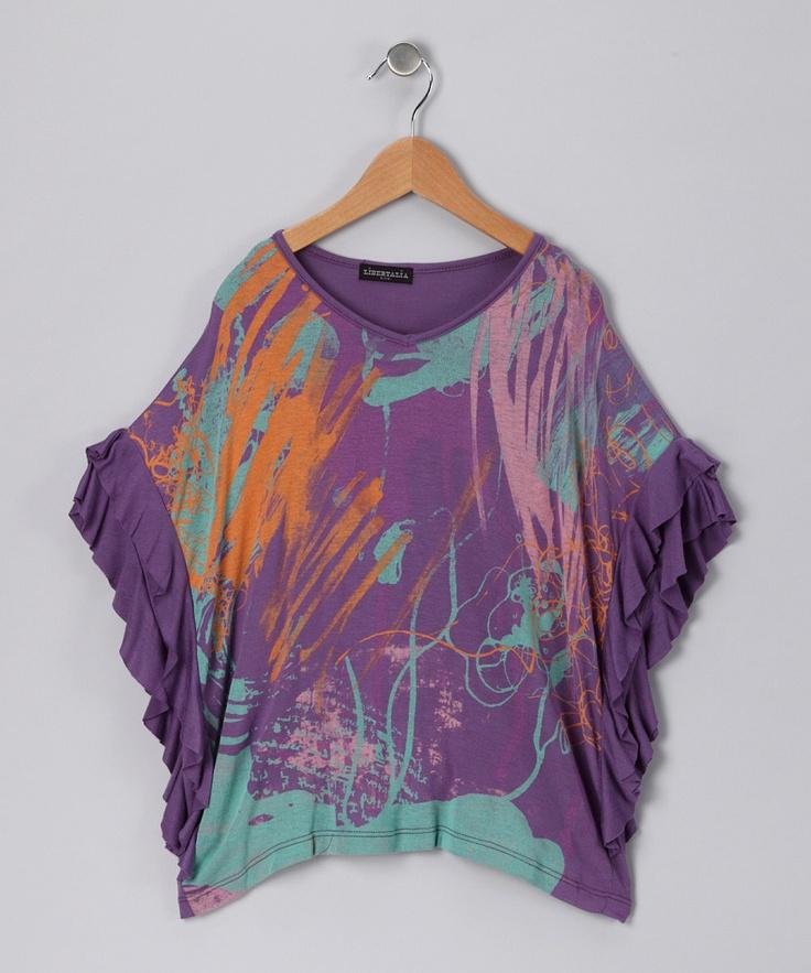 Purple Ruffle Poncho: Purple Ruffle, Pretty Girls, Girls Clothing, Ruffle Poncho, Adorable Girls