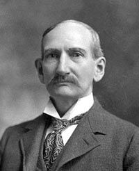 Frank James, Jesse's brother, later in life.  Never went to jail (was acquitted by a jury in Missouri), and when Cole Younger eventually got out of jail, the two old outlaws went around the country speaking at state fairs and such, about the evils of their former ways.