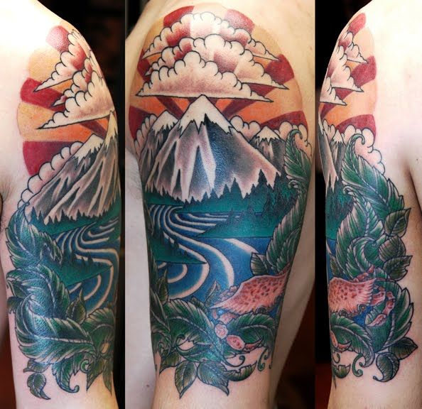27 Awesome Picturesque Landscape Tattoo Designs: 17 Best Images About Landscape Tattoos On Pinterest