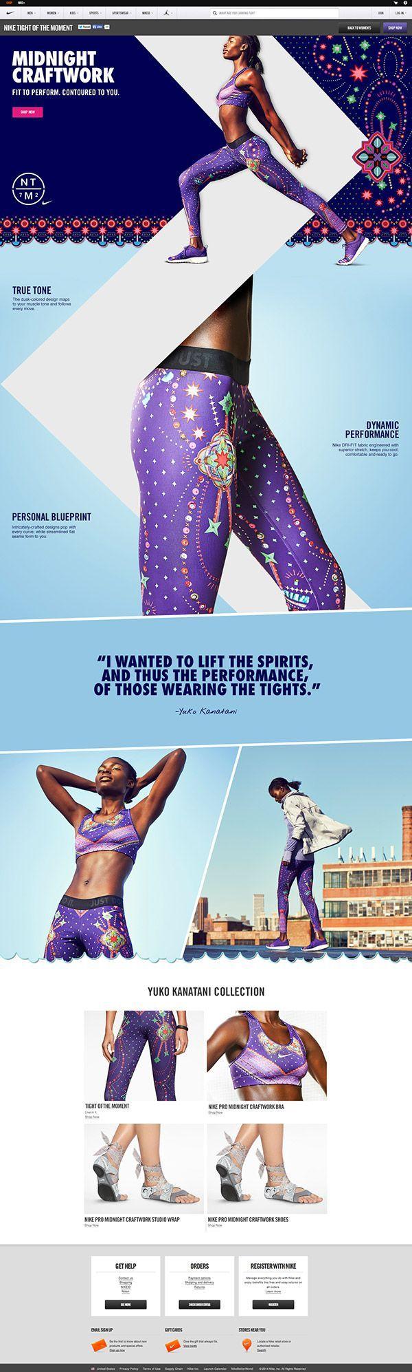 Nike: Tights of the Moment by Mariola Bruszewska, via Behance #webdesign #fresh: