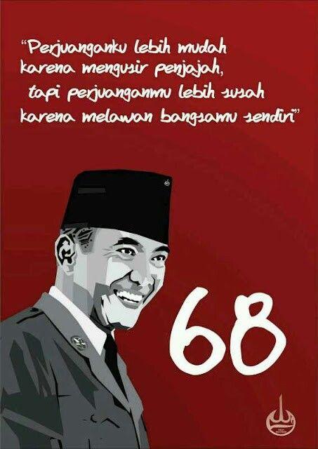 Soekarno . First president Indonésie