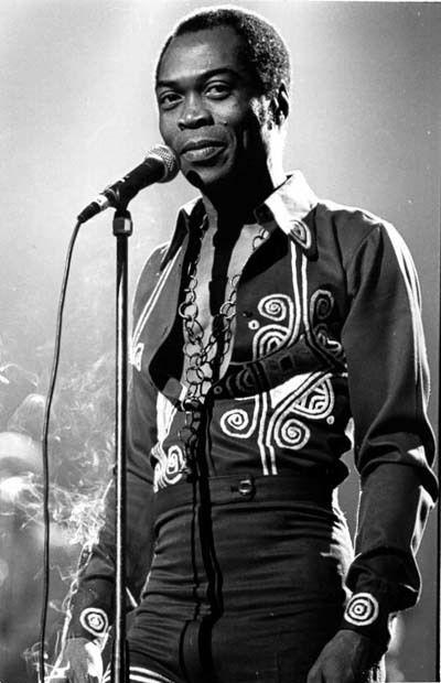 Fela Kuti, Nigerian multi-instrumentalist musician and composer, pioneer of Afrobeat music, human rights activist, and political maverick