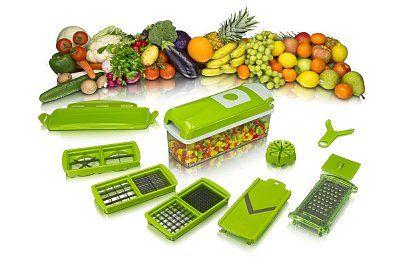 Multifunkcionális gyümölcs és zöldség szeletelő - 10 darabos készlet, rozsdamentes acél pengék.