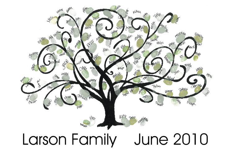 Family Reunion Tree with Fingerprints | Party Planning ...