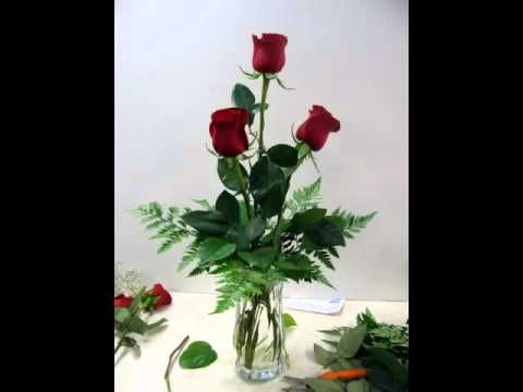 This short video will help you arrange a half dozen roses in a vase.  Perfect for the DIY flower lover.