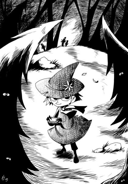 snufkin_in_the_woods_by_vernavulpes.jpeg (420×600)