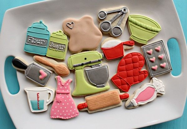 Kitchen themed cookies