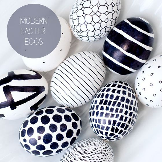 Modern Easter Eggs by Obviously Sweet