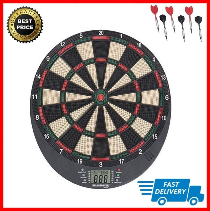 Electronic Dart Board Game LCD Soft Tip Adult Sport Voice Sound Effects NEW #Arachnid