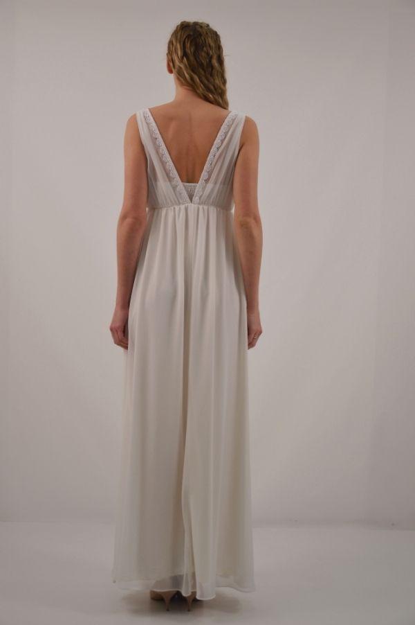 Φόρεμα μακρύ με φαρδύ ώμο