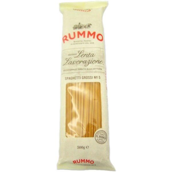 Rummo Spaghetti Grossi 500g, Lenta Lavorazione *** ONLY £1.25 *** - a little thicker than regular spaghetti. Great flavour, texture and bite.
