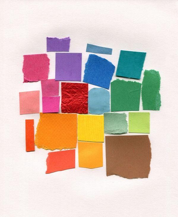 coloured paper scraps