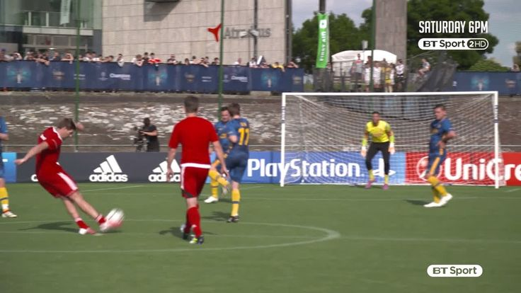 Popular Right Now  United Kingdom l Steven Gerrard scores a screamer against Hashtag United!