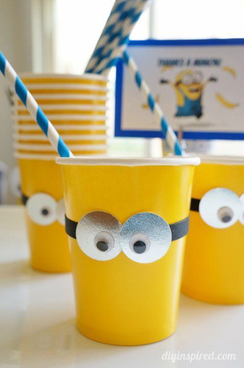 Dica para festinhas ;) #Minions #DIY