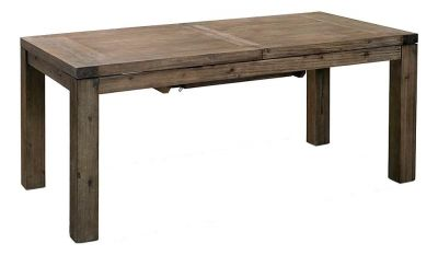Table à manger rectangulaire à rallonge en acacia brossé - www.tekimport.fr  #table #bois #brut