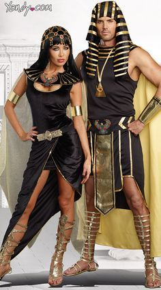 King Of Egypt Costume & Cleopatra Costumes. There is no shortage of Egyptian costumes in black & gold. Black & Gold Glam Gala Halloween Party Decorating & Costume Ideas