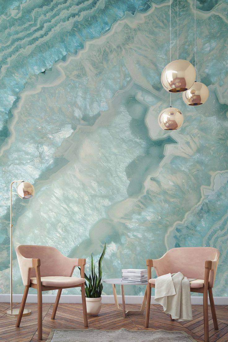 Celeste Agate Crystal Wall Mural Part 72
