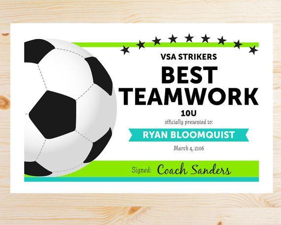 31 best Soccer images on Pinterest Soccer stuff, Soccer moms and - best of printable soccer certificate