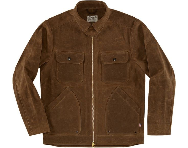 Inspired by a motorcycle trip from Whistler to Patagonia, Woolrich has teamed up with the guys from West America to create this limited edition jacket that is built to last. With a focus on American manufacturing, full function, superior quality, and timeless style the Woolrich x West America motorcycle jacket is constructed of heavyweight waxed canvas that will mold to your body over time and only looks better with age. Simple hidden features like the snap closure glove pockets and wrist…