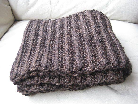 Men's handmade crochet scarf —