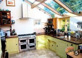 glass roof with oak timbers kitchen extension - Google Search