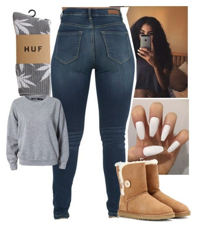 """""""."""" by jawnnsowavyy2 on Polyvore featuring UGG Australia, HUF and BLK DNM"""