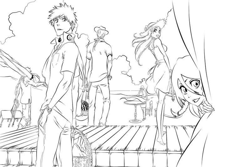 bleach coloring book pages - photo#34