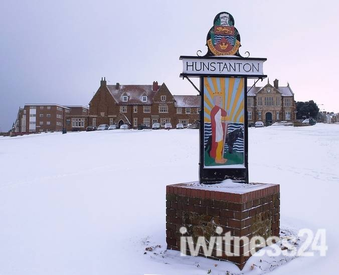 Hunstanton in the snow - click on picture to see a gallery