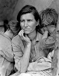 Dorothea Lange  fotografeert migranten in America.