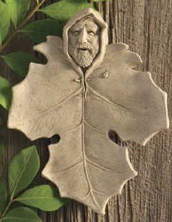 "Hand Cast Stone Green Man Forest Spirit Collectible Plaque - Concrete Leaf Face Nature Sculpture by Creative Structures. $33.49. A Copper Hook Is Embedded In The Back For The Hanging Of This Piece. Unique And Whimsical Works Of Art By George At Carruth Studio. Hand Cast Stone, Weatherproof & Waterproof, Handfinished With A Patina Wash To Accentuate The Details. Dimensions: 6"" W x 7.5"" H x 1.75"" D - Item Weight: 1.5 Lbs. - Made In The USA. Extremely Innovative Cre..."