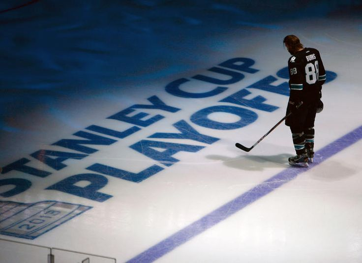 San Jose Sharks forward Brent Burns during the National Anthems (May 7, 2013).