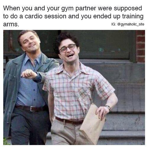 When You And Your Gym Partner