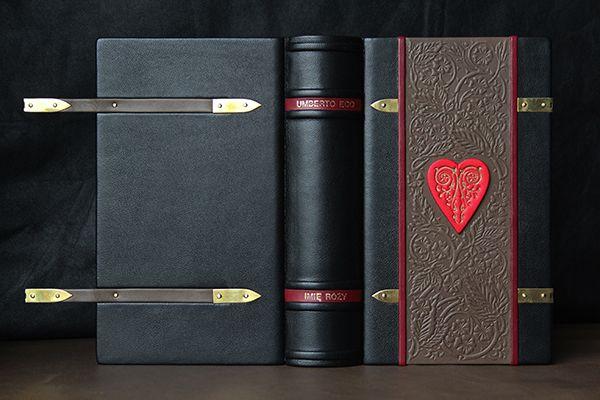 """Umberto Eco """"Imię Róży"""" (The Name of the Rose). Projekt i oprawa książki Katia Zubakhina z Wrocławia"""