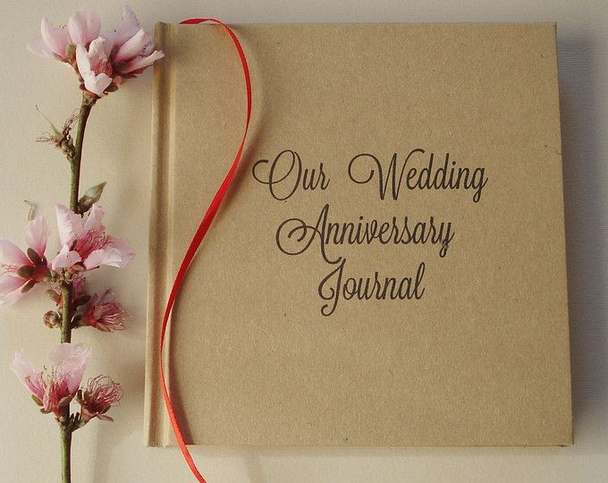 Our First Wedding Anniversary Journal Gift Diary Keepsake Paper