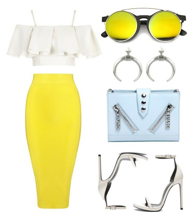 """Summer Brights"" by eva-jez ❤ liked on Polyvore featuring Posh Girl, Topshop, Kenzo, Yves Saint Laurent and summebrights"