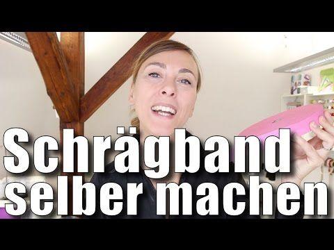 Schrägband selber machen - mit Anna von einfach nähen - YouTube