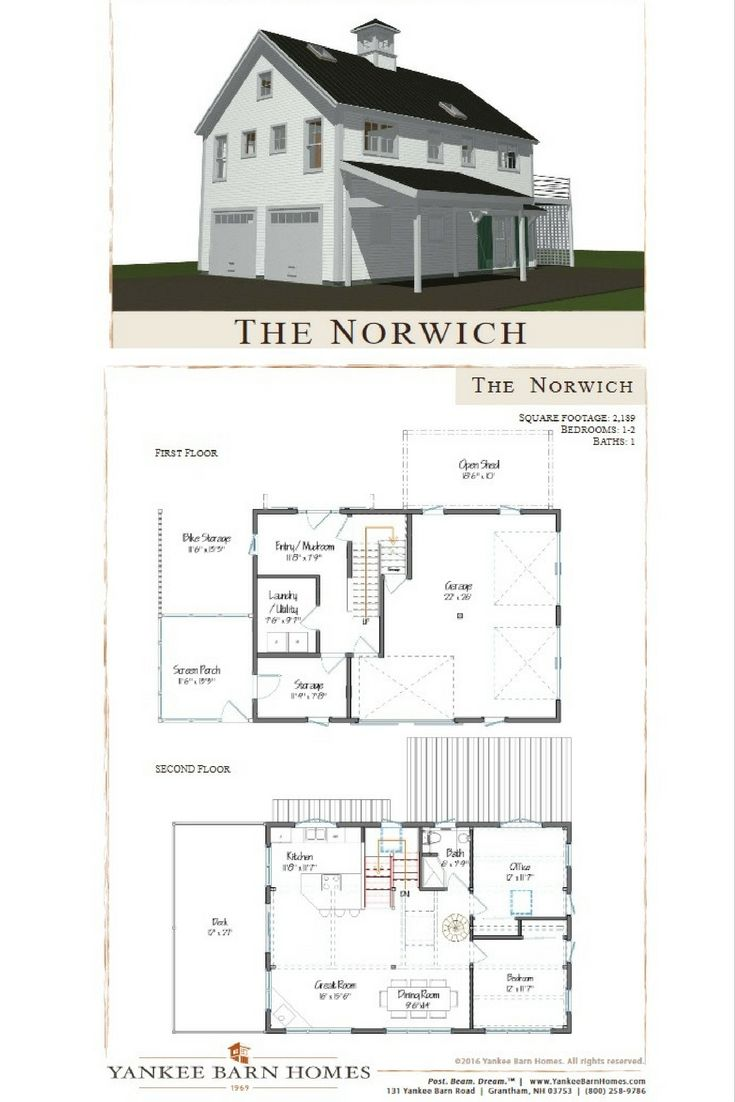 Norwich square feet for Post and beam garage plans
