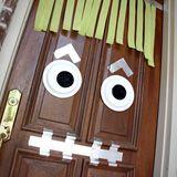 Door idea for J's Monster party: Green Doors, Doors Ideas, Doors Décor, Doors Decor, Decorating Ideas, Front Doors, Classroom Ideas, Halloween Doors, Classroom Doors