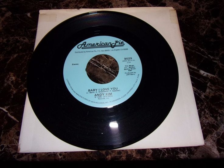Andy Kim: Baby I Love You / The Dartells: Hot Pastrami / 45/ Near Mint #RocknRoll